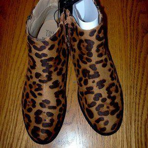 NWT Women's Cheetah Suede Zipper Boots Choose Size